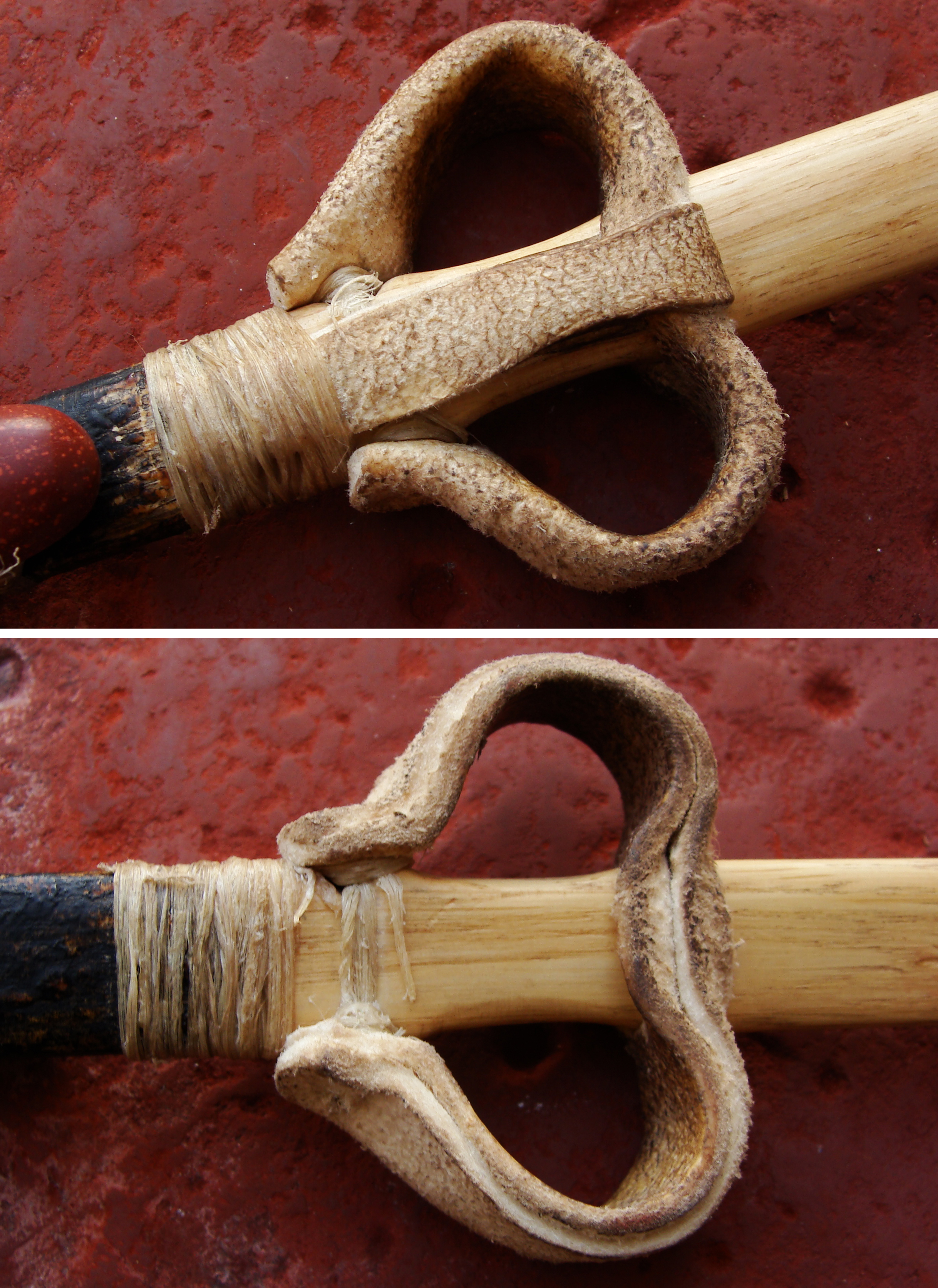 Figure 5. Close-up of the loops on the Cist 27 atlatl replica.
