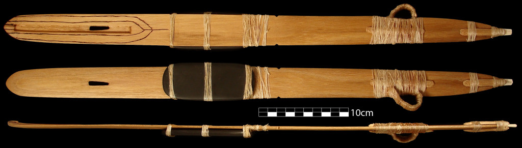 Figure 2. Reproduction of the Hogup Cave atlatl
